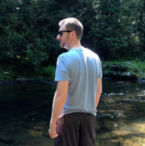 Yeah, that's me standing in a stream. Tranquil, I know.
